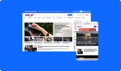 desktop and mobile website